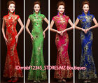 FZ639 Improved Golden sequins Lace Floral Cheongsam Mermaid dress Ball Gown Gift