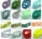 Hot Sale!very beautiful CUBE Crystal glass Jade Loose 2mm Spacer beads 57 colors
