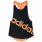 adidas Dance Racer Womens Ladies Fitness Training Tank Vest Black/ Orange