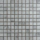 "White Carrara 1""x1"" Italian Marble Polished Mosaic. ($10.50 Per Sheet)"