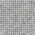 "White Carrara 5/8""x5/8"" Italian Marble Honed Mosaic ($12.00 Per Sheet)"