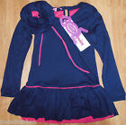 Beetlejuice girl longsleeve dress 1-2 (12-18-24 m), 3-4-5 y BNWT navy  designer