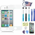 Black/White Front  Screen Glass Lens Replacement For Apple iPhone 4&4S Tools kit
