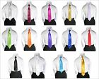 Classic Solid 14 Color Collection Satin Clip On Tie for BOYS Suit Tuxedo sz S-XL