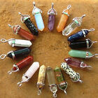 Crystal Hexagonal Gemstone Healing Point  Natural 38mm Jewelry Necklace Pendant