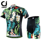 2018 CHEJI Retro Cycling Jersey and (Bib) Shorts Set Men's Cycling Kit Flowers