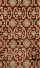 2' X 3' CONTEMPORARY AREA RUG RED BEIGE HIGH QUALITY GEOMETRIC MODERN