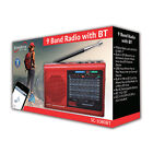 Supersonic Bluetooth 9 Band AM/FM/SW 1-7 MP3 Player Speaker Rechargeable Radio