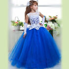Wedding Communion Prom BallGown Pageant KidParty Princess Flower Girl Dresses _