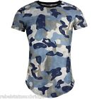 Crew neck Camo Tee Ripped / Worn effect Blue / Grey Sizes: S - XL Men's T Shirt