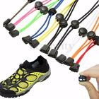 1 Pair Elastic No-Tie Locking Shoe Laces With Buckles For Sport Running Shoes