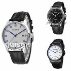 43mm Parnis Stainless Steel Case Black/White Dial Men's Date Automatic Watch