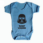 BARF VADER - FUNNY STAR WARS BABY GROW DARTH VADER - UK MADE 100% COTTON GIFT