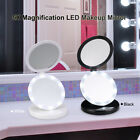 Ovonni Portable LED Illuminated Makeup Mirror Double Sides 1X / 5X Magnification