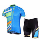2017 Stripes Men's Cycling Clothing Suit Jersey and Bib Shorts Cycling Kit S-5XL