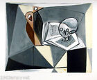 """NEW Pablo Picasso Signed and Numbered Lithograph """"Tete de Mort et Livre"""""""