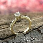 Diamond Engagement Ring 14K Solid Gold Natural 1.04 TCW (VS, G-H) 5.5 Enhanced