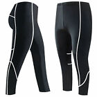 Mens Compression Tights Base Layer Running Gym Training Tights / Trousers Black