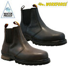 WORKFORCE MENS WATERPROOF LEATHER SAFETY STEEL TOE CAP COMBAT WORK HIKER BOOTS
