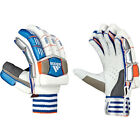 adidas CX11 Junior Cricket Batting Gloves White/ Blue/ Orange