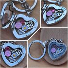 Personalised BIRTHDAY Gift Heart memory Locket keyring -15th 30th 40th 50th