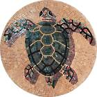 Sea Turtle Marble Mosaic Bath Pool Wall Floor Artwork Tile