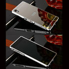 Ultra Slim Premium Aluminum Metal Frame Mirror Back Case Cover For Sony Xperia