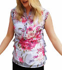 UK Size 10 - 18 Sleeveless Summer Tops Non-Wrinkle - 4 styles