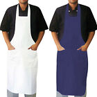 Chefs Bib Apron Kitchen Chef Aprons With 2 Front Pockets HOSPITALITY GRADE