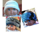 Hand Crochet or Knit Beanie Ball Cap Hat Headband New Child Toddler Baby New