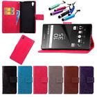 Flip Pattern Stand Card Hoder Wallet Leather Case Cover For Sony Various Phone