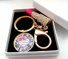 Personalised Will You Be My Bridesmaid  Keyring Gift Present Lipstick