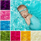Newborn Photography Props Rug Baby Photo 3D Rose Flower Backdrop Blanket New