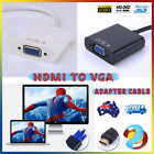 HDMI Male to VGA Female Video Adapter Converter Cable HD 1080P Chipset Built-in