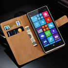 Genuine Leather Wallet Flip Case Cover For Nokia 2 3 5 6 7 Plus 8 9 /Lumia Model