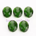 10pcs Glass Crystal Charms Flat Oval Spacer Loos Beads 20x16mm Necklace Finding