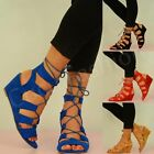 NEW WOMENS LACE UP WEDGES LADIES CAGED SANDALS GHILLIE GLADIATOR SHOES SIZE UK