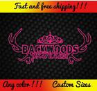 Backwoods Princess Vinyl Decal Sticker Country Redneck Girl Pink Camo Gun Diesel