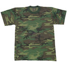 New Men's Woodland Camouflage T-Shirt Short Sleeve Tee Swing Size 2XL