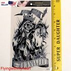 Large Tattoo Demon Lord Skull Devil Horse Ghost Waterproof Sticker 93