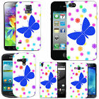 Motif case cover for Mobile Phones - blue moth flower drop.
