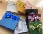 1 Bracelet bangle gift box with satin style bow with silver edge ribbon