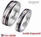 Personalized Engraved 316L SS Lover's Couple Band Engagement Promise Band Ring