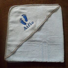 Personalised Baby feet Hooded Towel New baby shower Gift, ANY NAME!