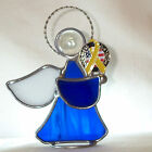 Patriotic Stained Glass Angel Made in America Flag Yellow Support Troops Ribbon