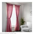 IKEA LENDA Curtains with tie-backs, 1 pair light red neutral 100% cotton