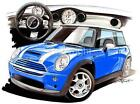 Mini Cooper SS Cartoon T-Shirts for the Entire Famiily #4720 automotive art