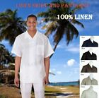 New Men's 2 PC Luxury Linen Set Casual/ Walking Suit Set M2806L
