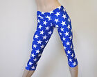 Wonder Woman SuperHero Solid Blue Stars Low Rise Capri Pants SXYfitness USA