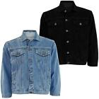 Mens Denim Jeans Jacket Cotton Casual Coat Trucker Button Classic Jacket Western